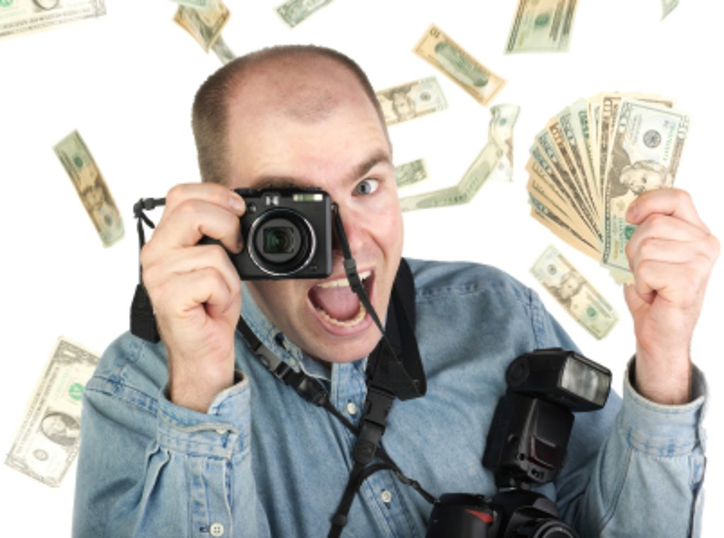 photographer with money